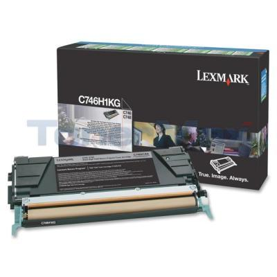 LEXMARK C746 TONER CARTRIDGE BLACK RP HY